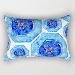 Swimming Goldfish Pattern Rectangular Pillow