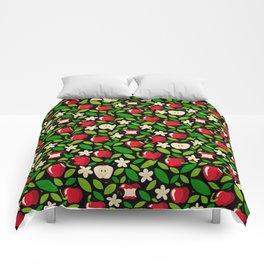 apple bloom and apple fruit Comforters