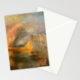 """J. M. W. Turner """"The Burning of the Houses of Lords and Commons""""(1834) Stationery Cards"""