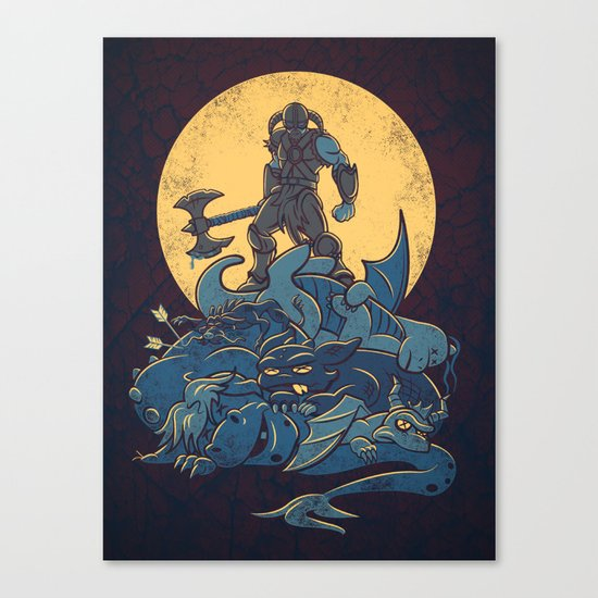 The Dragon Slayer Canvas Print