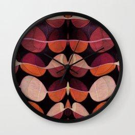 """""""Retro Rose Petals Abstract painting"""" Wall Clock"""