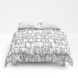 1960s classic fairy tails (tail fins) black and white Comforters