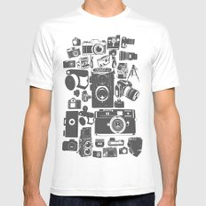 Cameras White MEDIUM Mens Fitted Tee