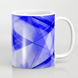 Bright warm triangular strokes of intersecting sharp lines with cornflower triangles and a star. Coffee Mug