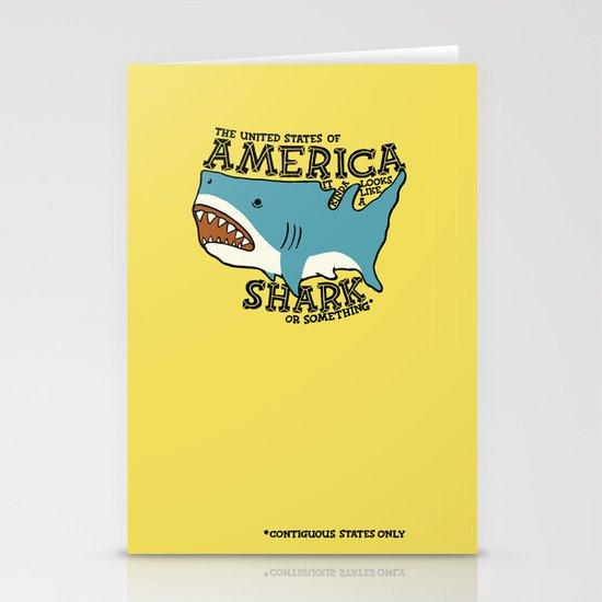 America…   it kinda looks like a shark or something Stationery Cards