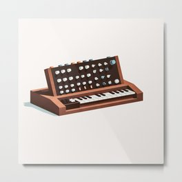 Lo-Fi goes 3D - Generation Synth Metal Print