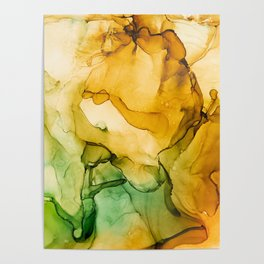 Turning Fall  - Abstract Ink Painting Poster