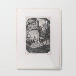 A Siesta in Italy,1842 Metal Print