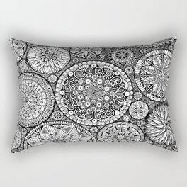 The Yin, Black Mandalas by Kent Chua Rectangular Pillow