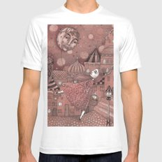 Strawberry Moon in June Mens Fitted Tee White MEDIUM
