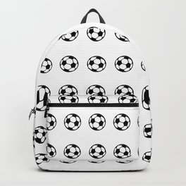 Black Soccer Balls Pattern Backpack