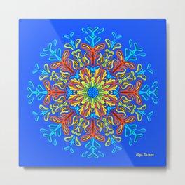 Gracias a la Vida (Azul Brillante) Metal Print