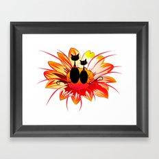 FlowerCats Framed Art Print