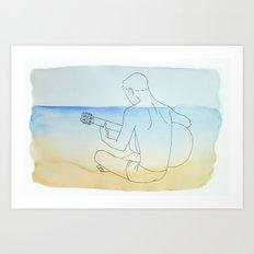 Summer Guitar Art Print