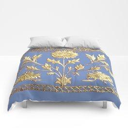 pianoflora horizontal (greek blue) Comforters