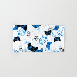 Video Game White and Blue Hand & Bath Towel