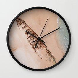 Skeleton Beach Wall Clock