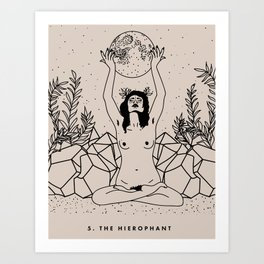 5. The Hierophant Art Print