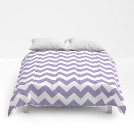 Lavender Chevron Print Comforters