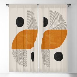Abstract Geometric Shapes Blackout Curtain