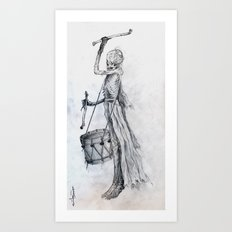 Drumming Death Art Print