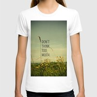 michigan T-shirts featuring Travel Like A Bird Without a Care by Olivia Joy StClaire