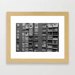 Block of flats. Bee project.  Framed Art Print