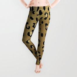 Leopard Animal Print Glam #1 #pattern #decor #art #society6 Leggings