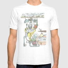 The Wonderful World of Water! Mens Fitted Tee MEDIUM White