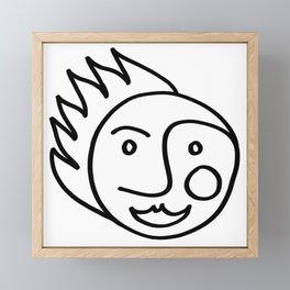 Smiling Face Framed Mini Art Print