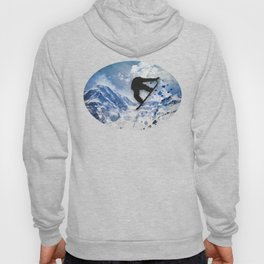 Snowboarder In Flight Hoody
