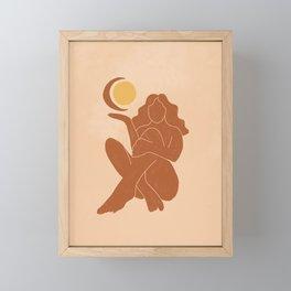 The Sun, The Moon and a Woman Framed Mini Art Print