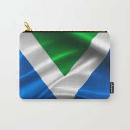 Vegan Flag on soft and shiny clothing Carry-All Pouch