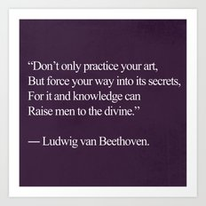 To The Divine Beethoven Quote;