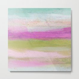 Happy and Bright Abstract Metal Print