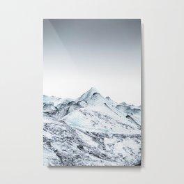 Minimal Glacier Metal Print