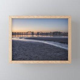 Siuslaw River Bridge and Florence at Dusk, No. 2 Framed Mini Art Print