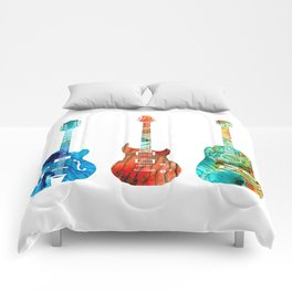Abstract Guitars by Sharon Cummings Comforters
