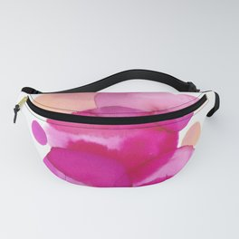 Pink Watercolor Circles Fanny Pack