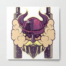 Cloud Chaser - Vaping Viking Metal Print