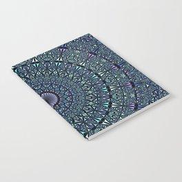 Blue Sacred Kaleidoscope Mandala Notebook