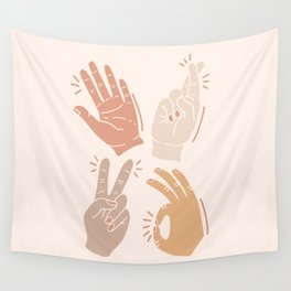 I Don't Know What to Do With My Hands Wall Tapestry