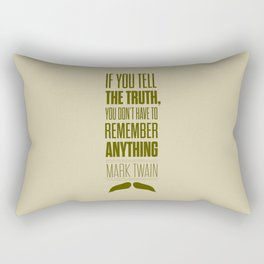 Lab No. 4 - Mark Twain quote truth life modern typographic Inspirational Quotes Poster Rectangular Pillow