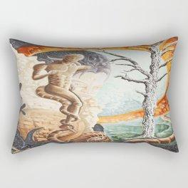 surveying the landscape Rectangular Pillow