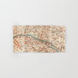 Vintage Map of Paris Hand & Bath Towel