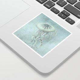 Jellyfish Underwater Aqua Turquoise Art Sticker