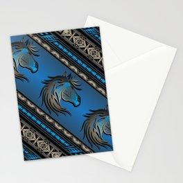Horse Nation (Blue) Stationery Cards