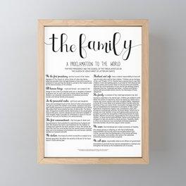 The Family Framed Mini Art Print