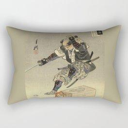 Samurai worrior ukiyoe print Rectangular Pillow