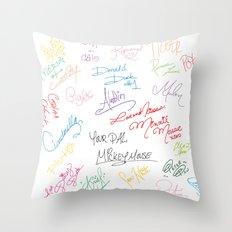 character autographs Throw Pillow